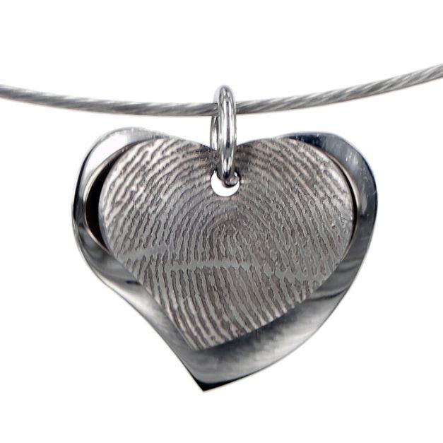 hart hanger met vingerafdruk