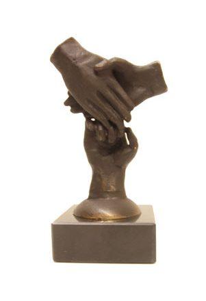 Bronzen 3 handen