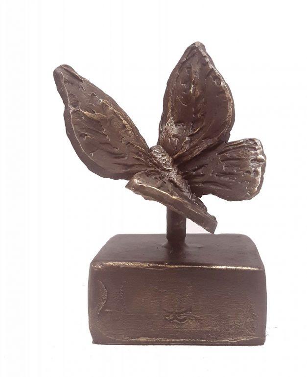 Vlinder urn brons